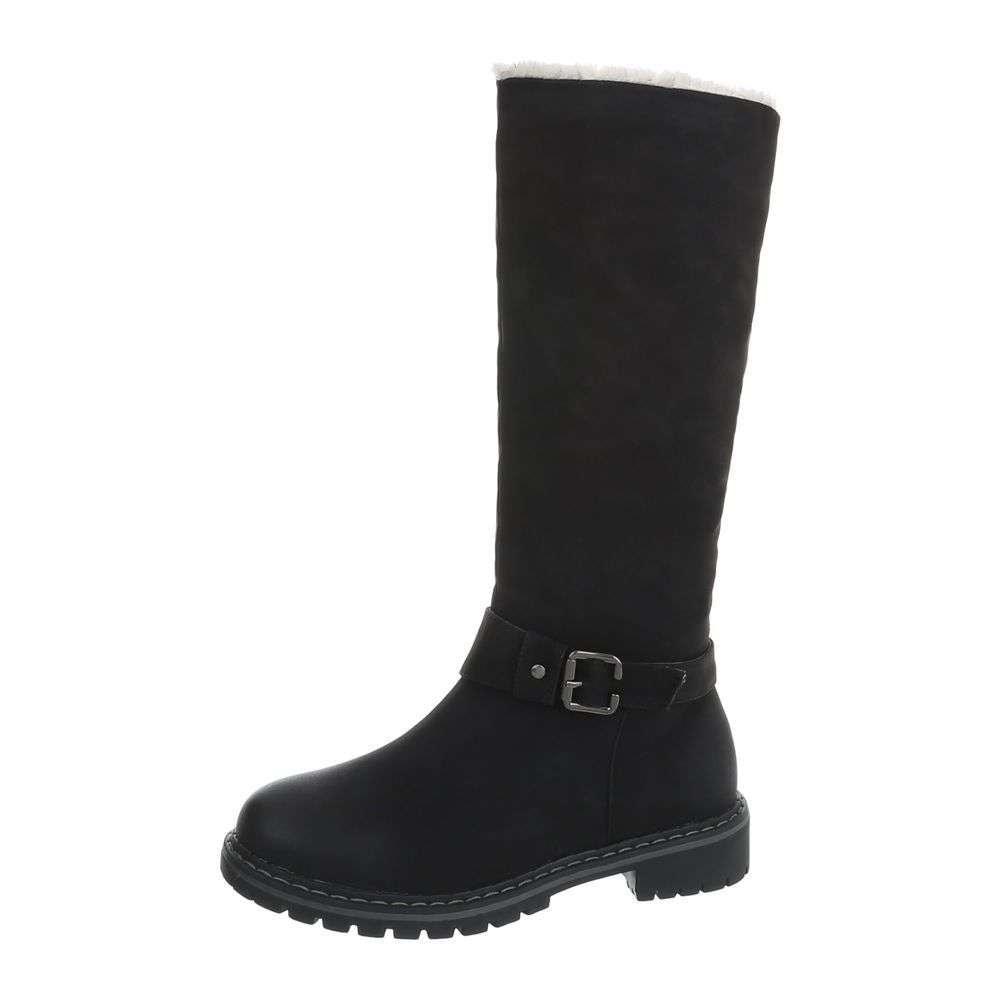 Čierne dámske čižmy - 36 EU shd-oko1031bl