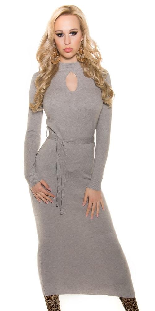 Dámske dlhé úpletové šaty Koucla in-sat1146gr