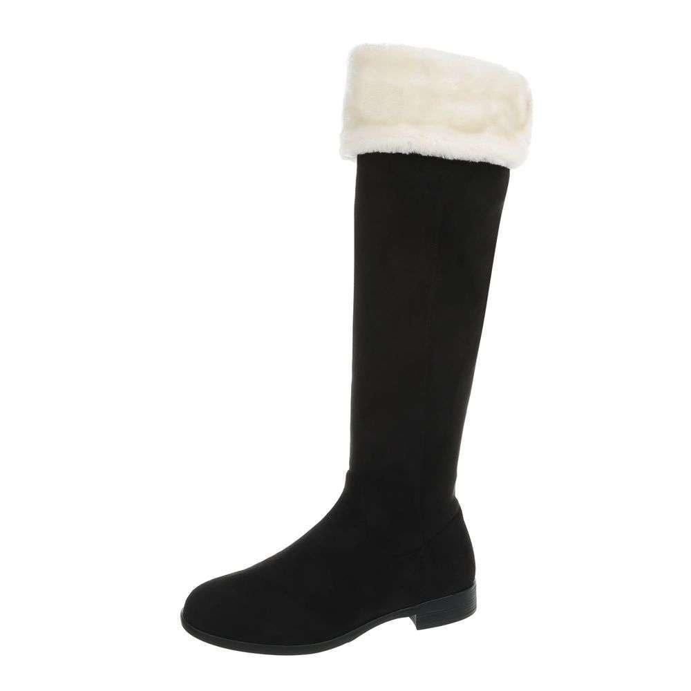Čierne čižmy s kožušinkou - 38 EU shd-oko1107bl