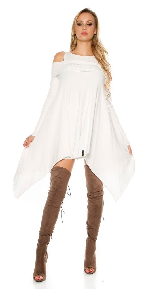 Úpletové dámské šaty Koucla in-sat1680wh