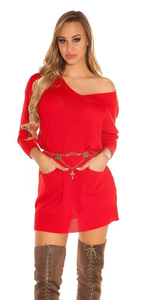 Dámske pletené mini šaty Koucla in-sat1904re