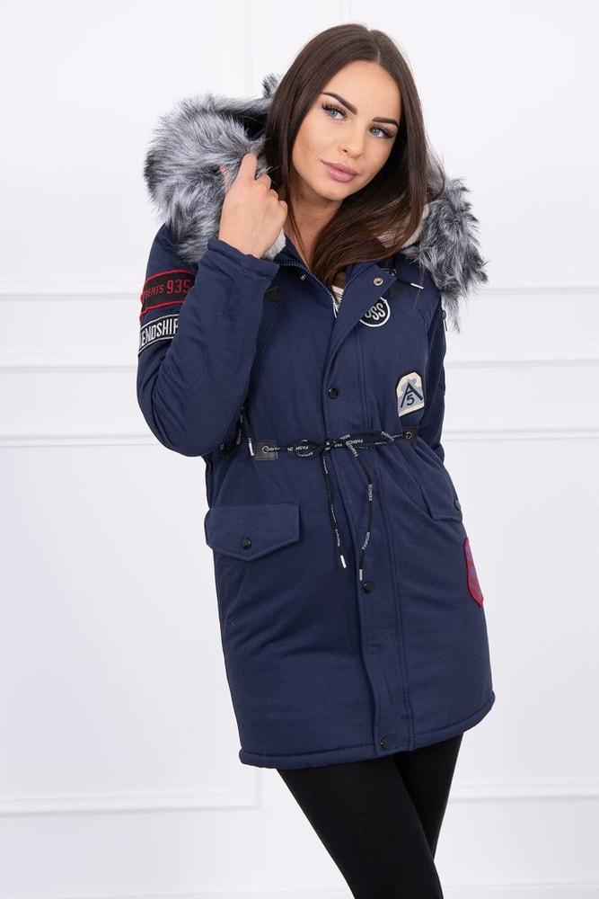 Dámska zimná bunda s kapucňou Kesi ks-bu1608tmo