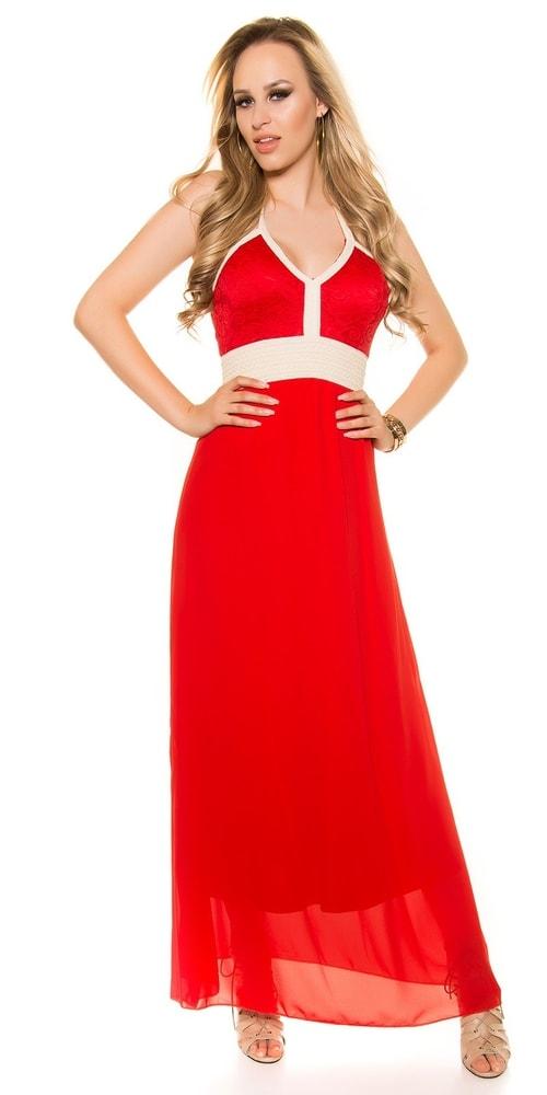 Červené trendy šaty Koucla in-sat1331re