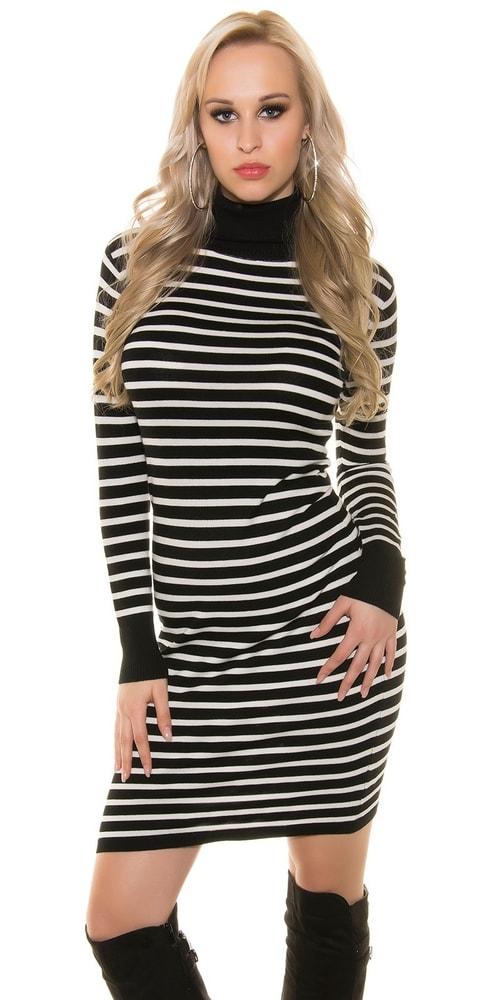 Čiernobiele dlhé šaty Koucla in-sat1123bl