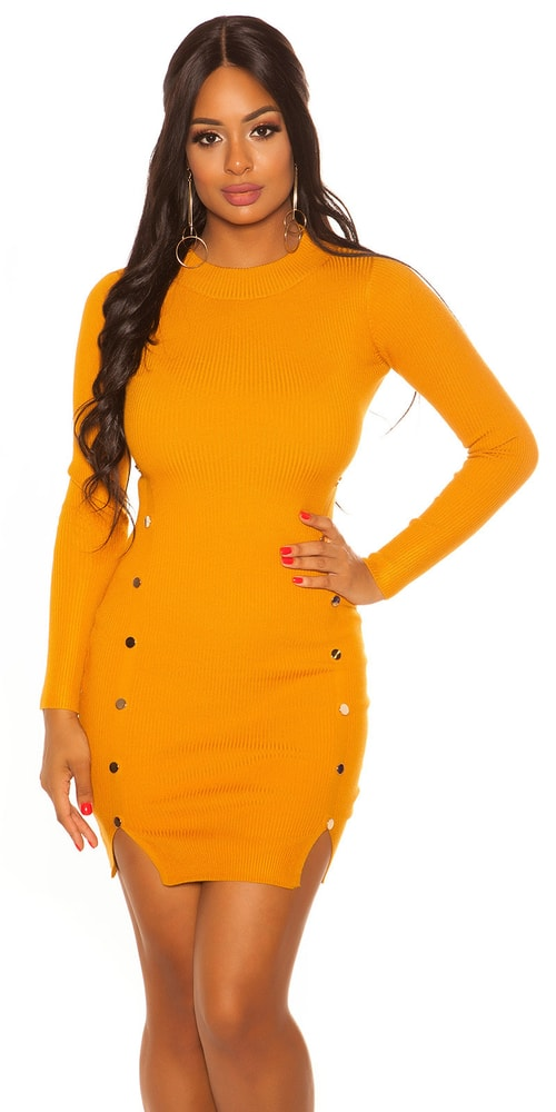 Úpletové dámské šaty - S/M Koucla in-sat2082or