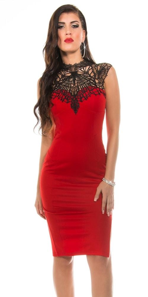 Červené šaty dámské - 38 Koucla in-sat1180re