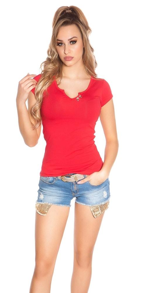 Dámské tričko červené Koucla in-tr1145re