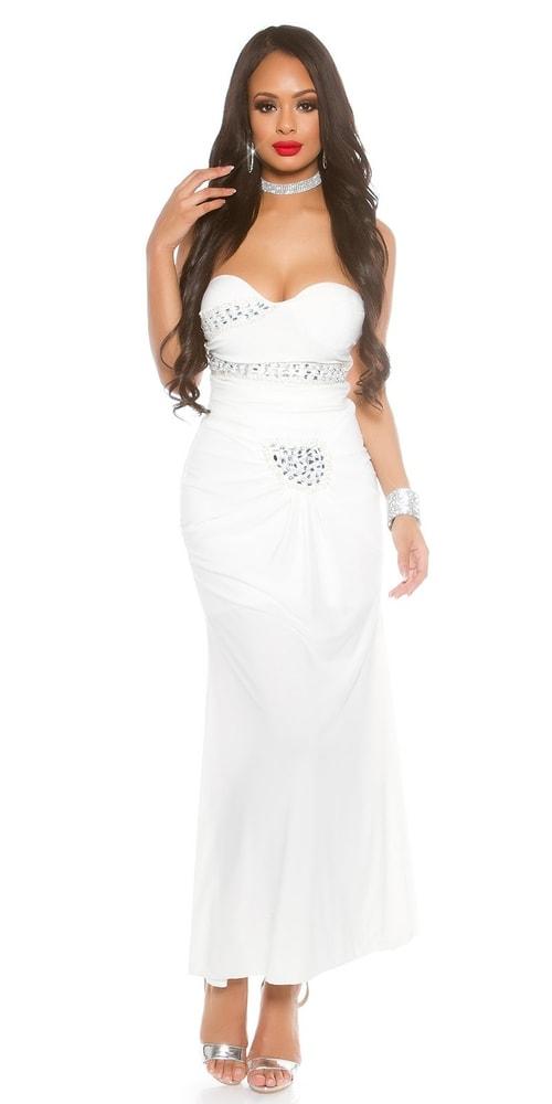 Plesové dámske šaty - L Koucla in-sat1501wh
