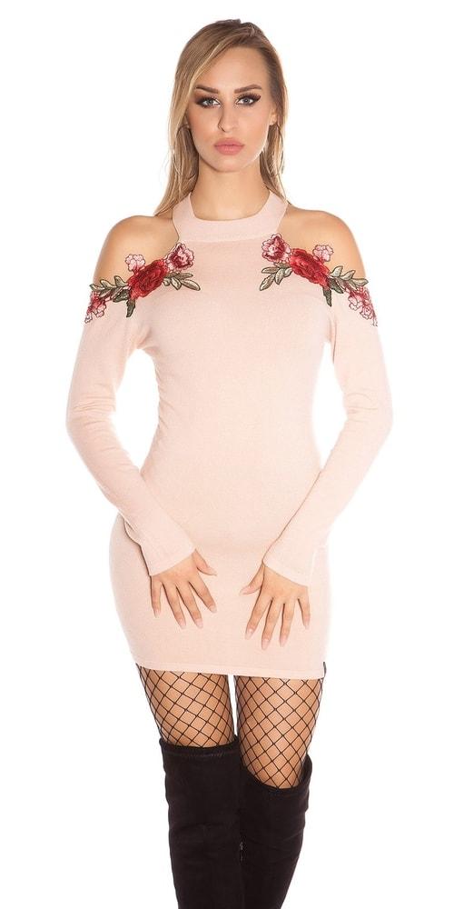 Úpletové dámské šaty Koucla in-sat1726spi