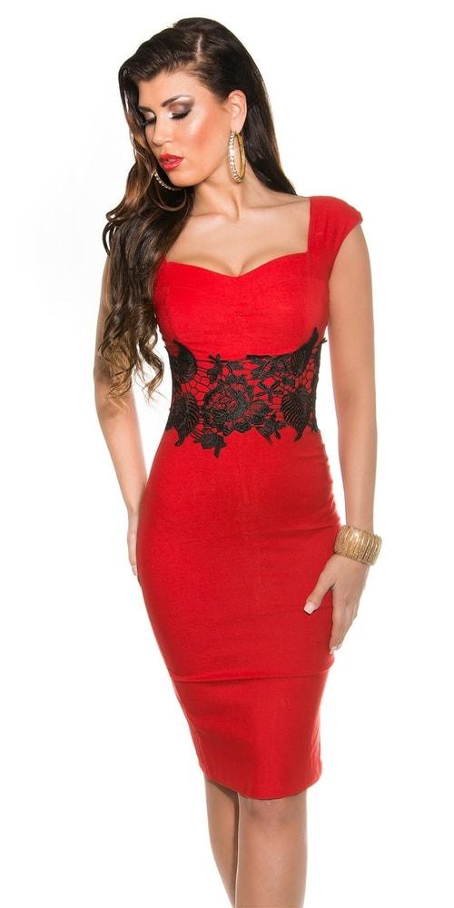 Večerní šaty červené - II. jakost Koucla in-sat1038re-v