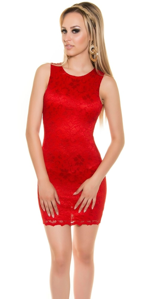 Čipkované mini šaty - 38 Koucla in-sat1332re