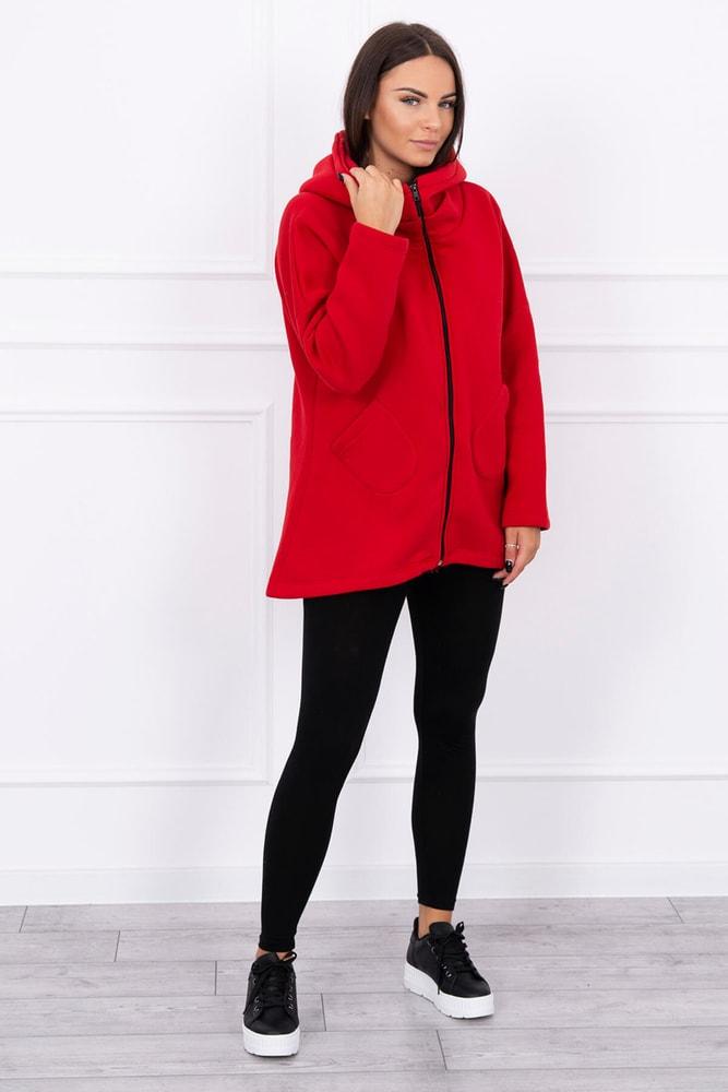 Červená dámská mikina Kesi ks-mi8955re