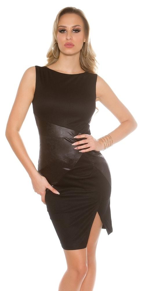 Puzdrové čierne šaty - 36 Koucla in-sat1015bl