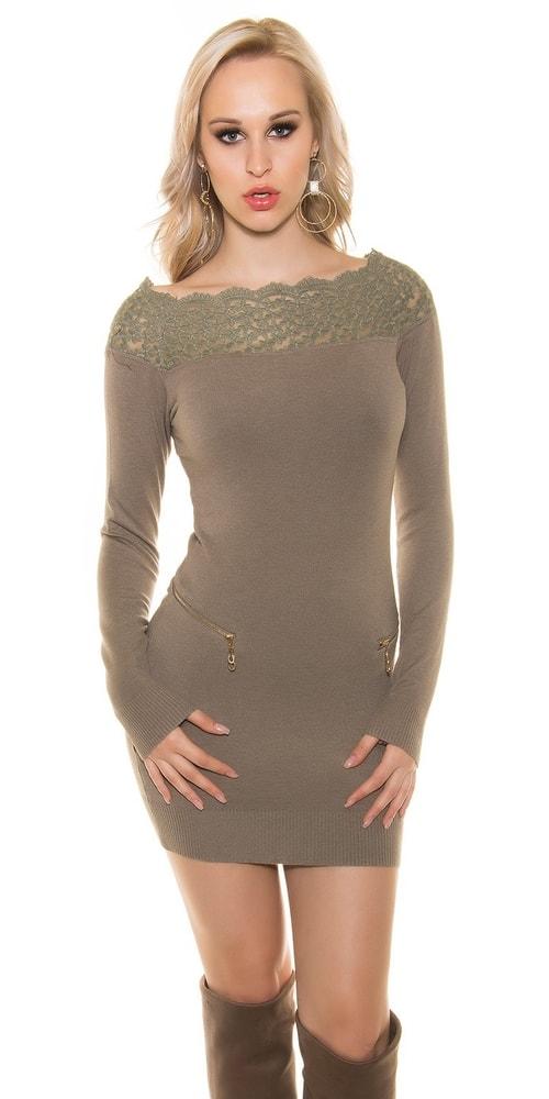 Elegantné úpletové šaty Koucla in-sv1454ta