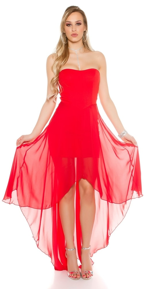 Červené dámske šaty - S/M Koucla in-sat1563re