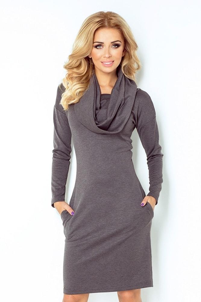 Dámske šaty šedé 131-3 Numoco nm-sat131gr