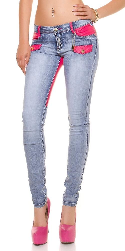 Dámske moderné džínsy - 36 Koucla in-ri1177