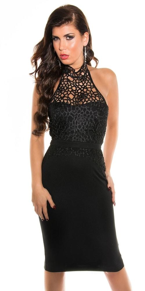 Spoločenské šaty čierne Koucla in-sat1028bl