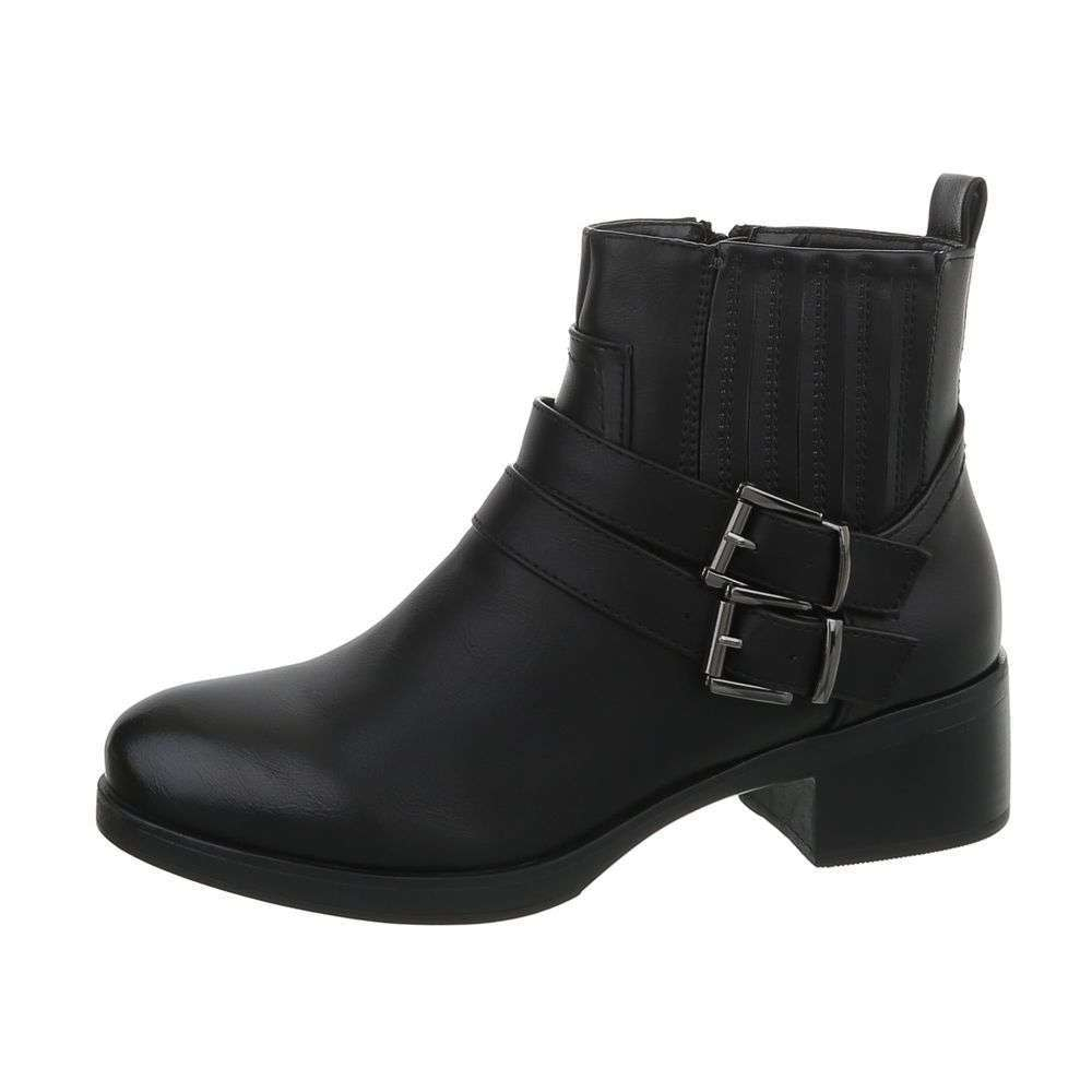 Čierne členkové topánky - 38 EU shd-okk1132bl