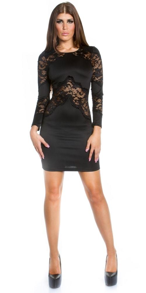 Čierne šaty - M in-sat1034