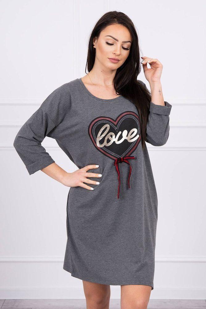 Volnočasové šaty plus size - XL Kesi ks-sa0083tg