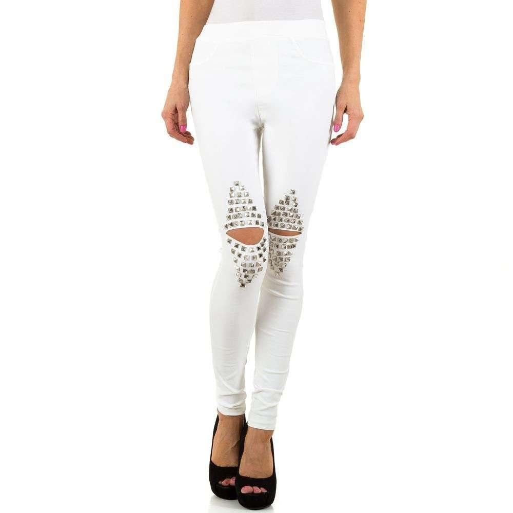 Dámské bílé kalhoty EU shd-ka1010wh