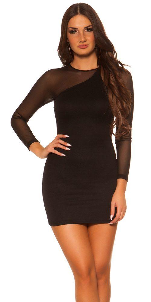Dámske elegantné šaty - čierne - L Koucla in-sat1131bl