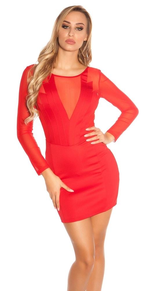 Červené dámské šaty - M Koucla in-sat1704re