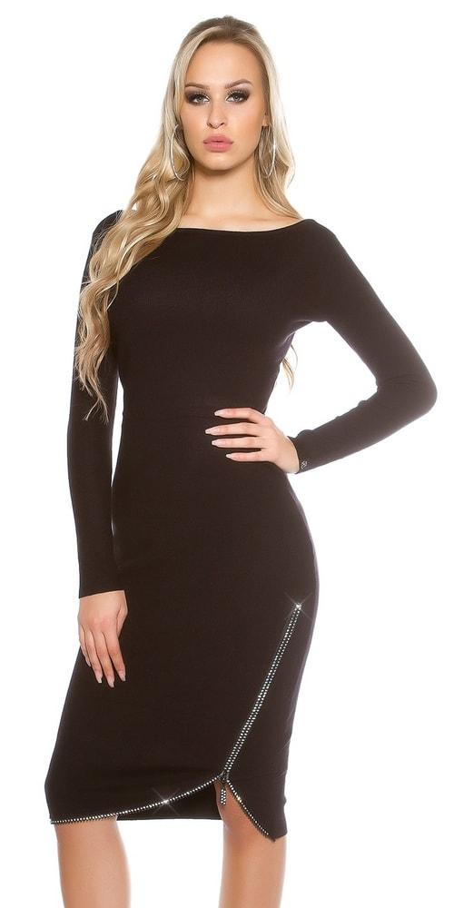 Pletené dámske šaty Koucla in-sat1425bl