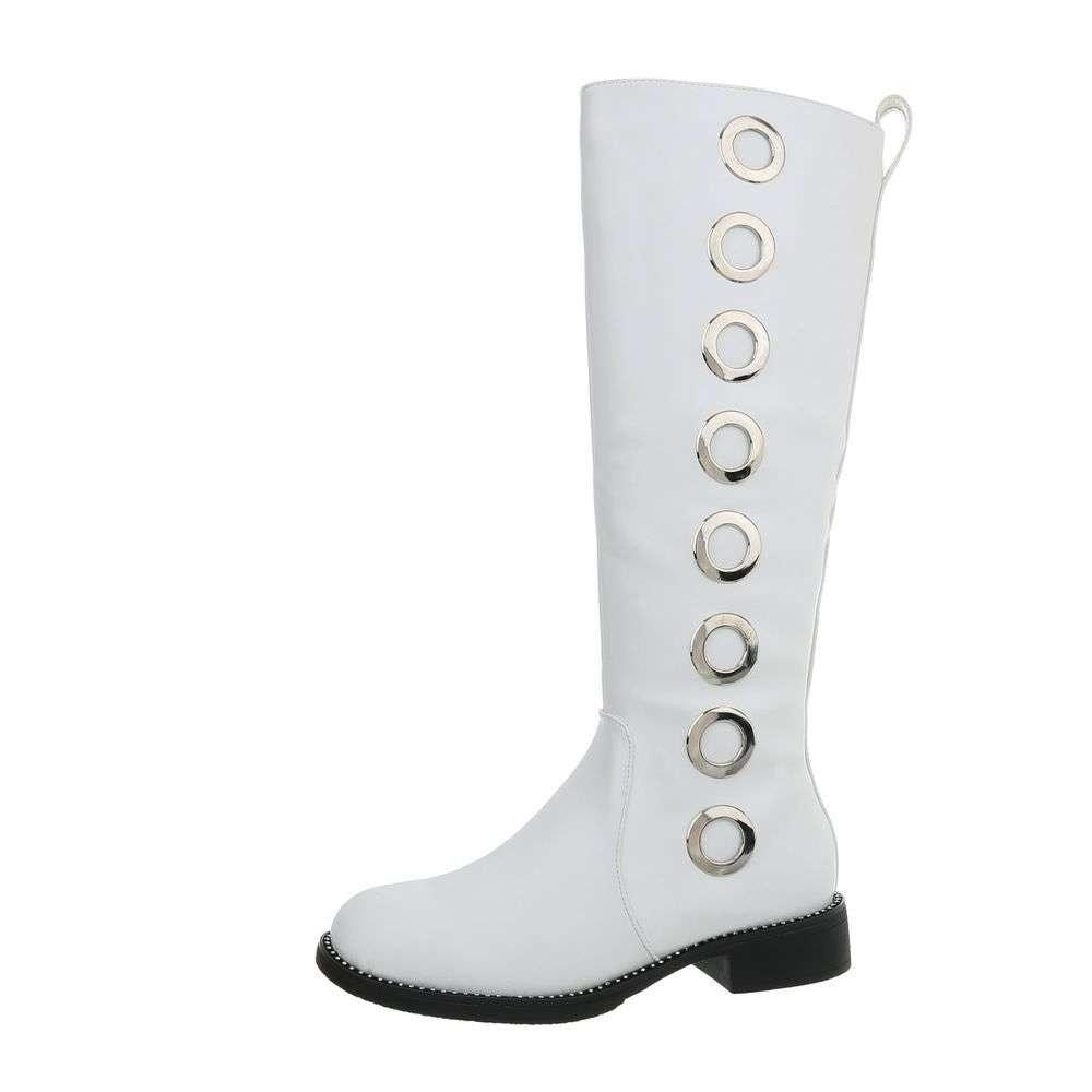 Biele vysoké čižmy - 39 EU shd-oko1037wh
