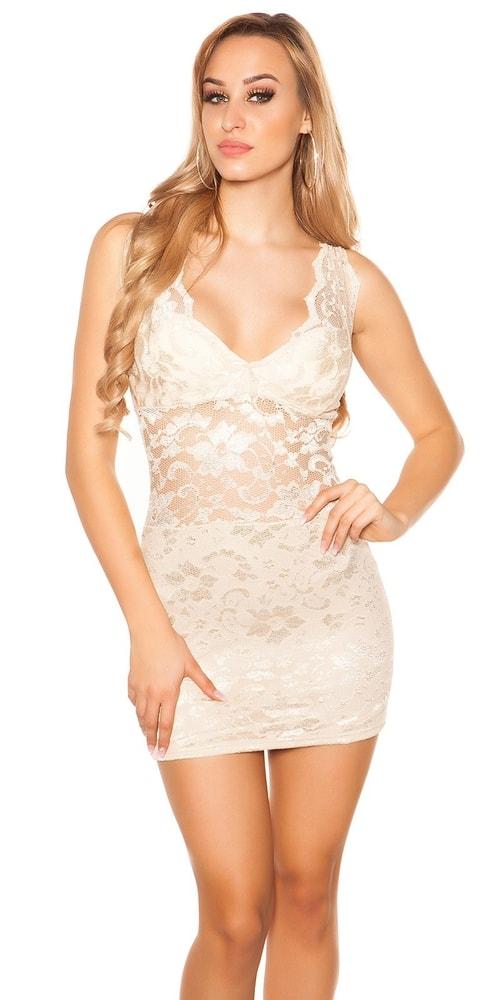 Dámske čipkované mini šaty Koucla in-sat1849be