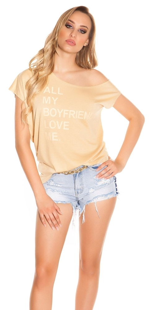 Letní dámské tričko Koucla in-tr1176be