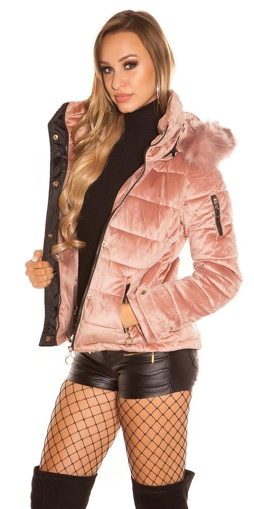 Zimná bunda s kapucňou Koucla in-bu1018spi