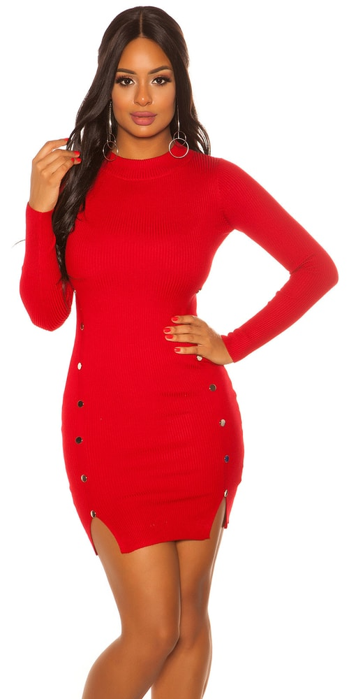 Úpletové dámské šaty - S/M Koucla in-sat2082re