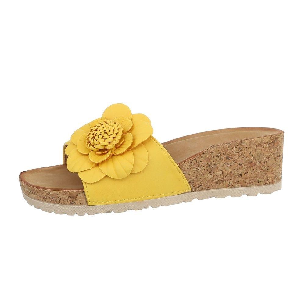 Žlté korkové papuče - 38 EU shd-opa1087ye