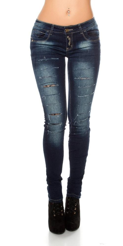 Dámske džínsy s čipkou Koucla in-ri1360