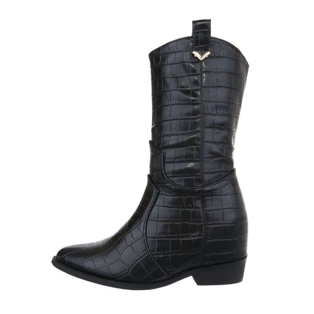 Čierne dámske čižmy - 39 EU shd-oko1178bl