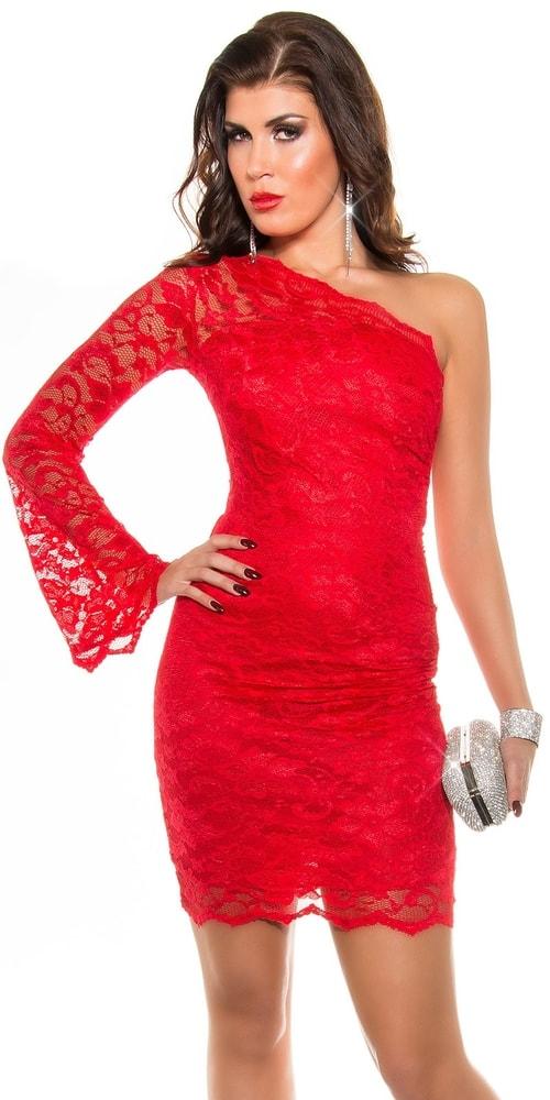Červené plesové šaty - 36 Koucla in-sat1187re