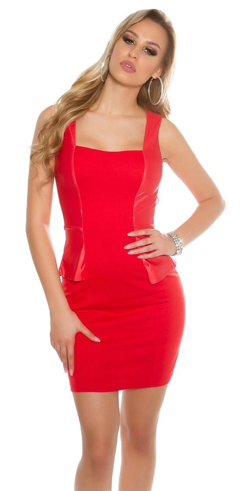 Dámske červené elegantné šaty - M Koucla in-sat1438re