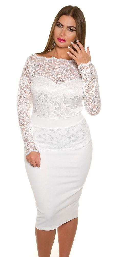 Elegantné dámske šaty - 42 Koucla in-sat1336wh