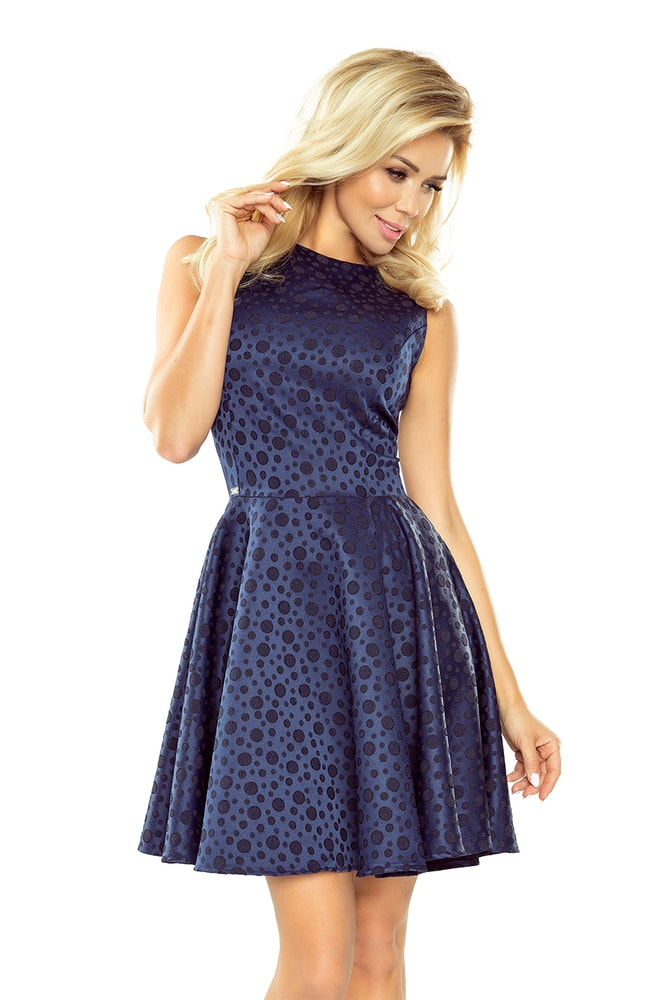 Tmavo modré dámske šaty - XXL Numoco nm-sat125-22