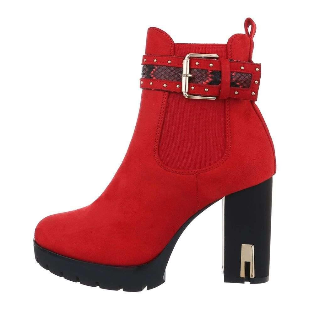 Červené kotníkové boty - 39 EU shd-okk1255re