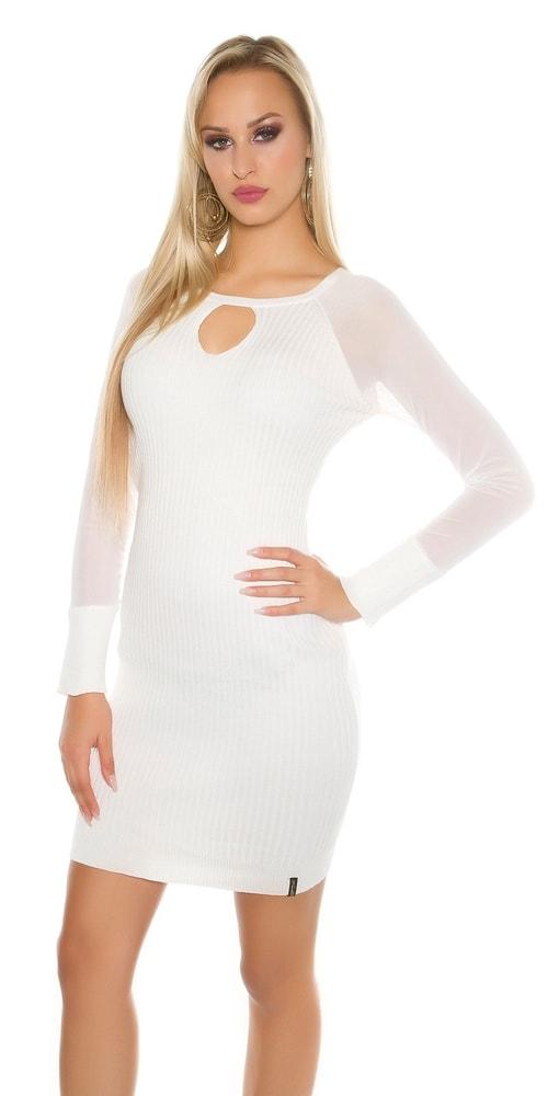 Dámske úpletové šaty Koucla in-sat1452wh