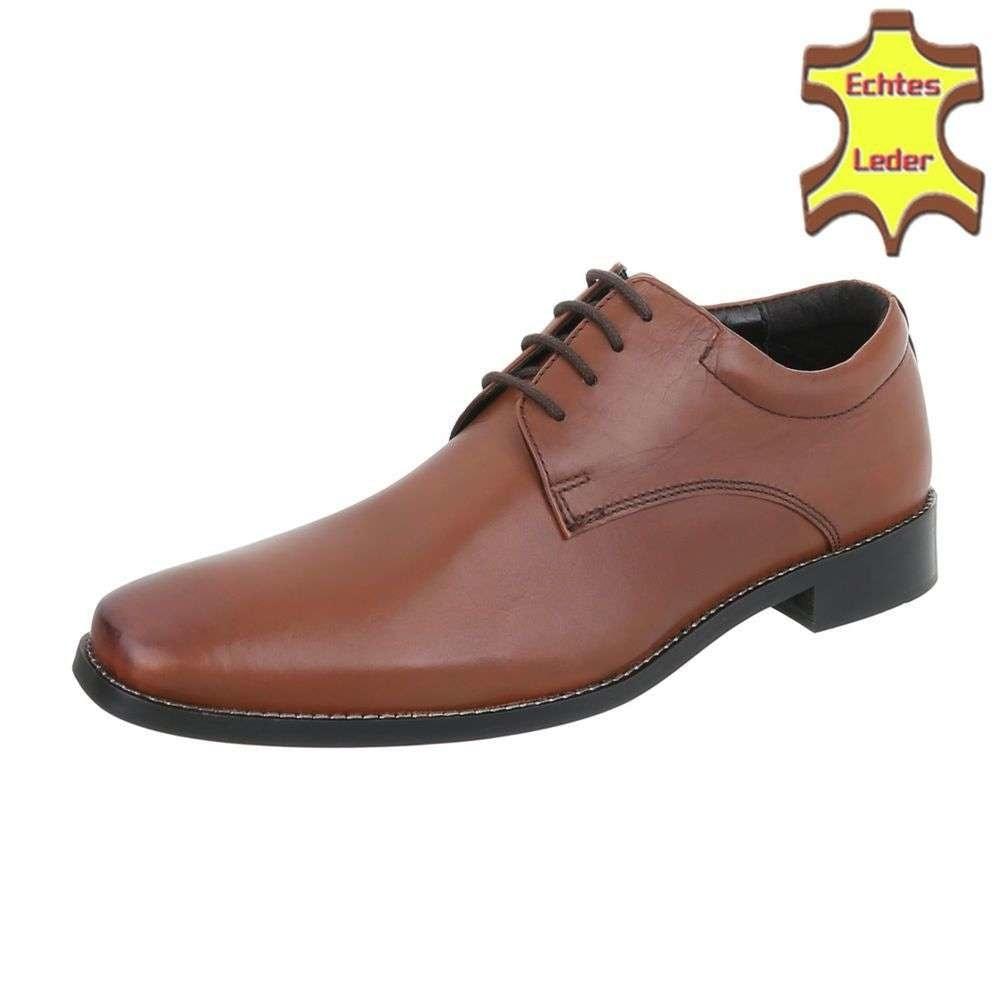 Pánske hnedé spoločenské topánky shp-osp1059ta