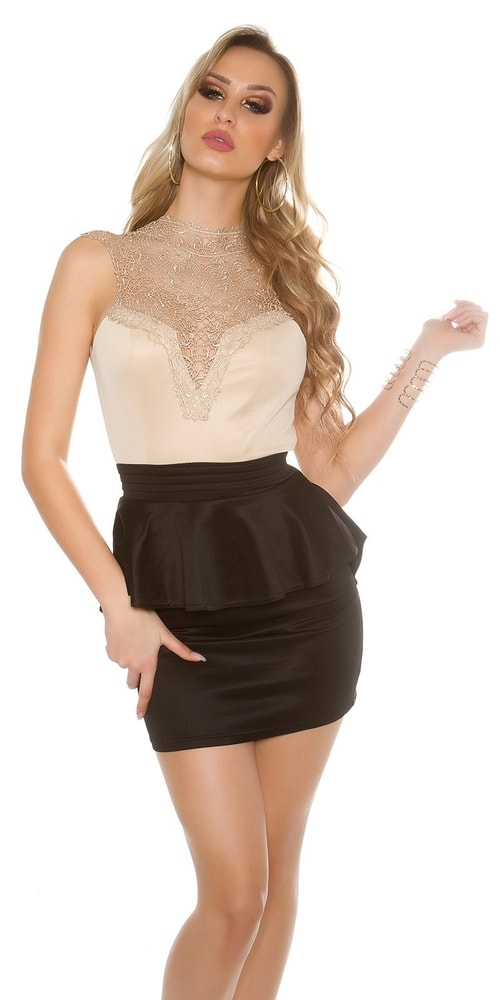 Krátke čipkované šaty Koucla in-sat1432bebl