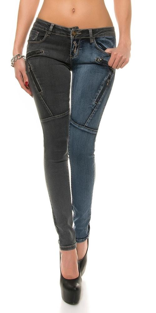 Čierno modré dámske džínsy - 40 Koucla in-ri1052