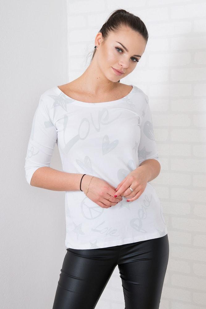 Dámská trička - S/M Kesi ks-tr4113wh