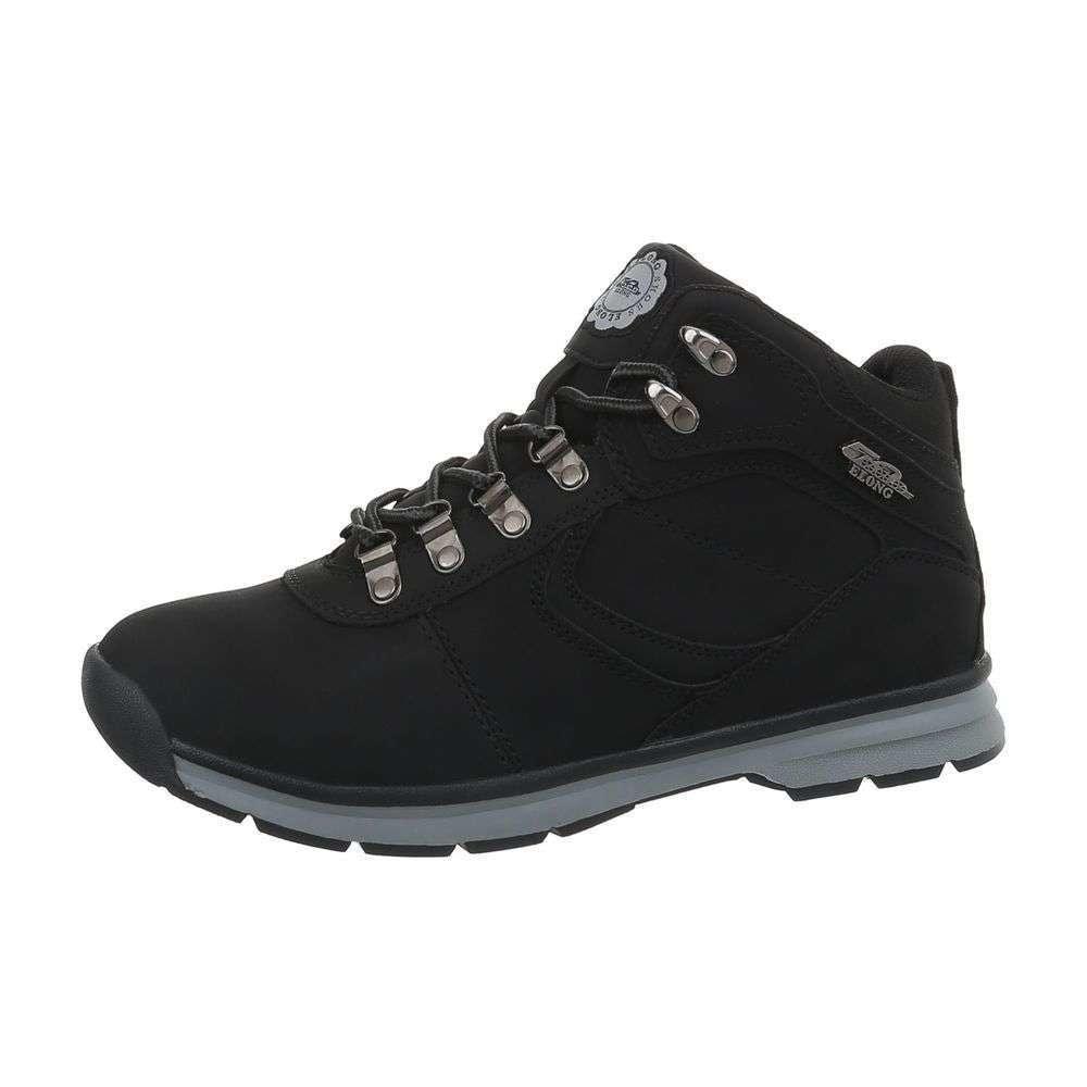 Čierne členkové topánky pánske - 40 shp-okk1050bl