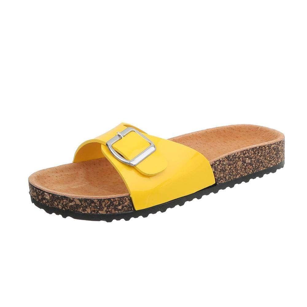 Žlté korkové papuče - 38 EU shd-opa1078ge