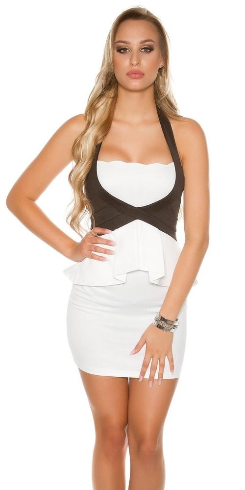 Elegantné mini šaty - M Koucla in-sat1666wh